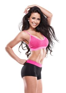 Posing fitness sexy woman