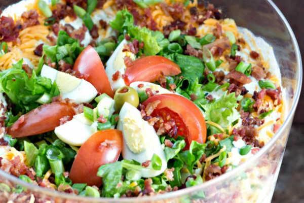Kip Bacon Laagjes Salade