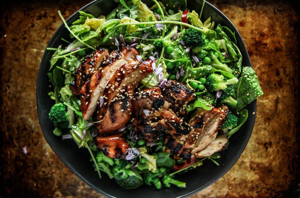 Teriyaki Kip Salade