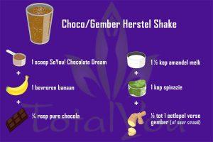 Choco gember herstel Shake