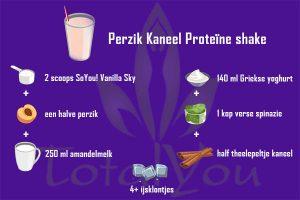 Perzik kaneel Shake