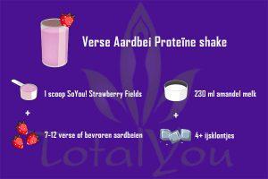 Verse Aardbei shake